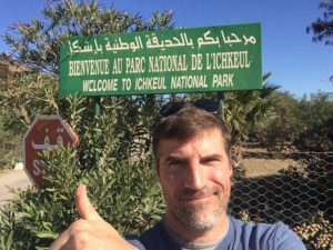 A selfie of the author at Ichkeul National Park